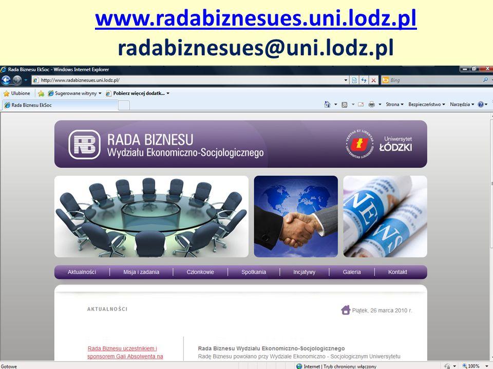 www.radabiznesues.uni.lodz.pl radabiznesues@uni.lodz.pl
