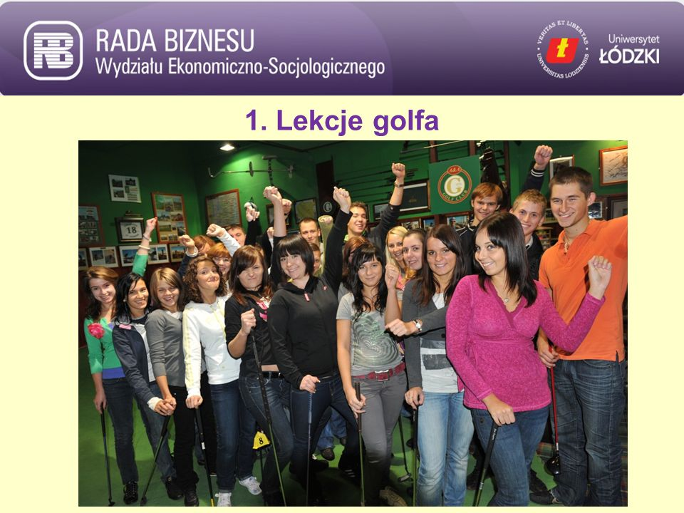 1. Lekcje golfa