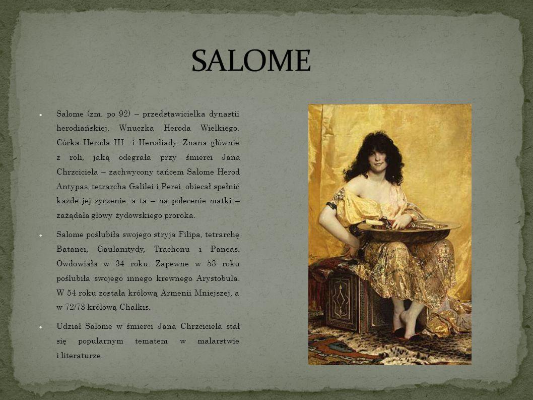 Salome (zm.po 92) – przedstawicielka dynastii herodiańskiej.