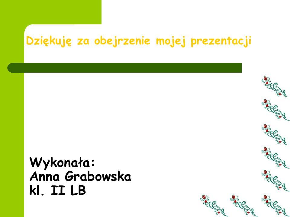 Wykonała: Anna Grabowska kl. II LB Dziękuję za obejrzenie mojej prezentacji