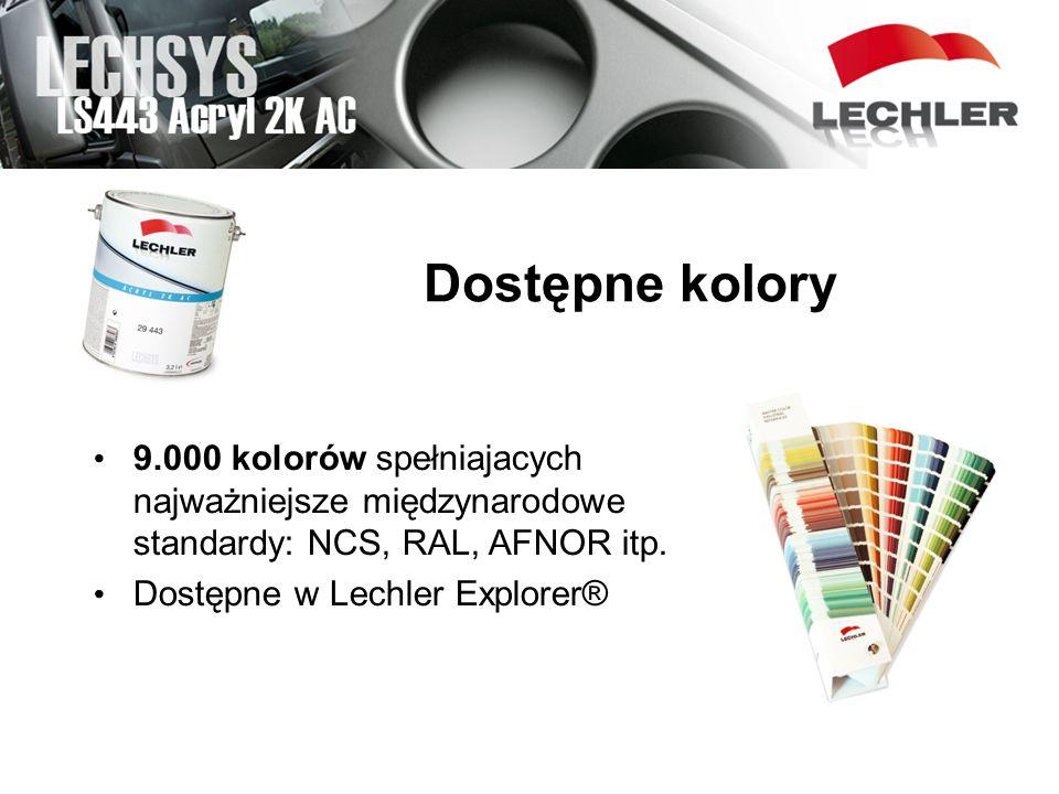 Dostępne kolory LS127 SYNTOLACK HS PENN 9.000 kolorów spełniajacych najważniejsze międzynarodowe standardy: NCS, RAL, AFNOR itp. Dostępne w Lechler Ex