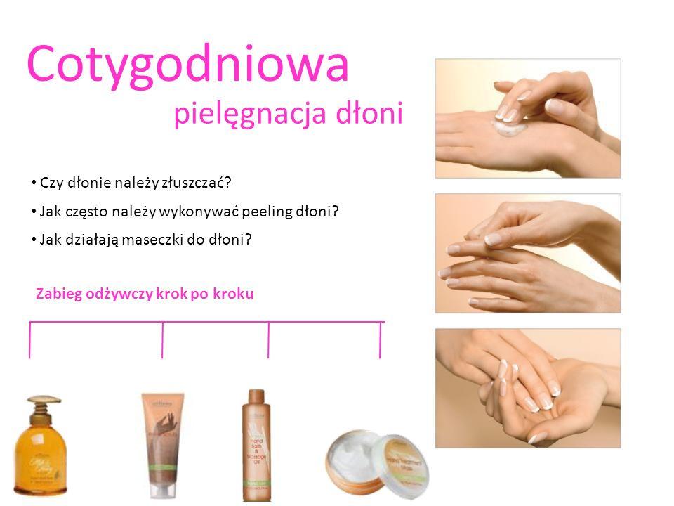 Czy dłonie należy złuszczać? Jak często należy wykonywać peeling dłoni? Jak działają maseczki do dłoni? Cotygodniowa pielęgnacja dłoni Zabieg odżywczy