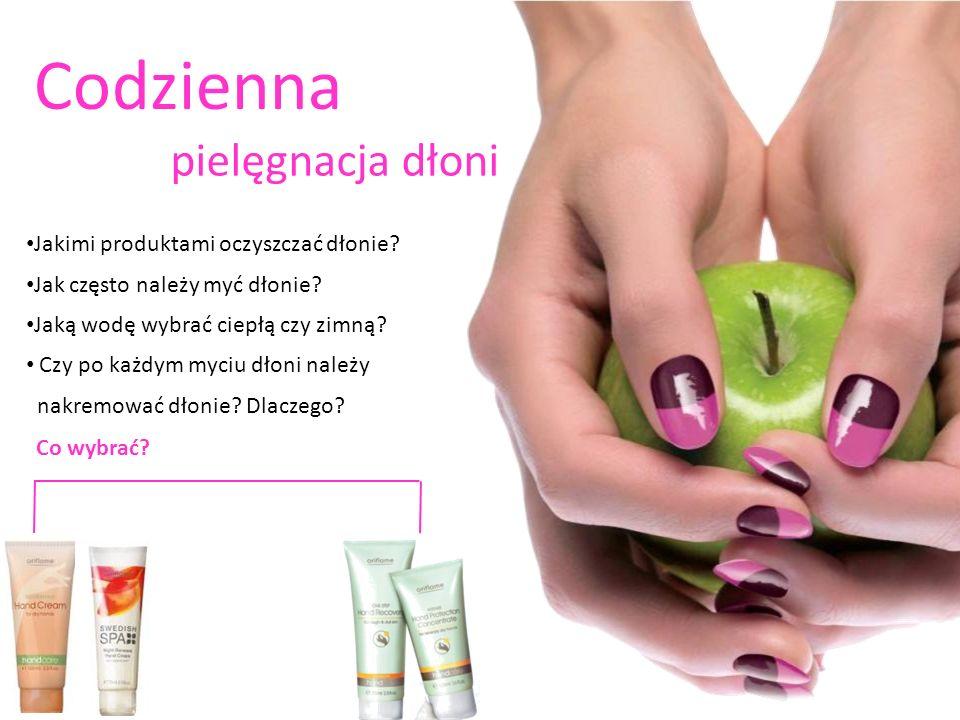 Codzienna pielęgnacja dłoni Jakimi produktami oczyszczać dłonie? Jak często należy myć dłonie? Jaką wodę wybrać ciepłą czy zimną? Czy po każdym myciu