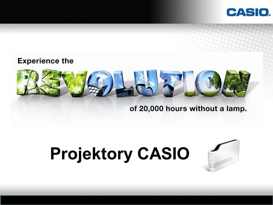 Cechy projektorów CASIO serii XJ Hybrydowe – laserowo-diodowe (LED & Laser), bezrtęciowe źródło światła dużej jasności .