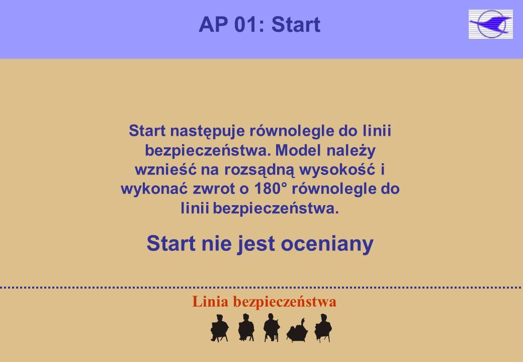 AP 01: Start Linia bezpieczeństwa Start następuje równolegle do linii bezpieczeństwa.