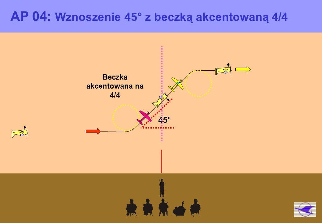 Beczka akcentowana na 4/4 AP 04: Wznoszenie 45° z beczką akcentowaną 4/4 45°