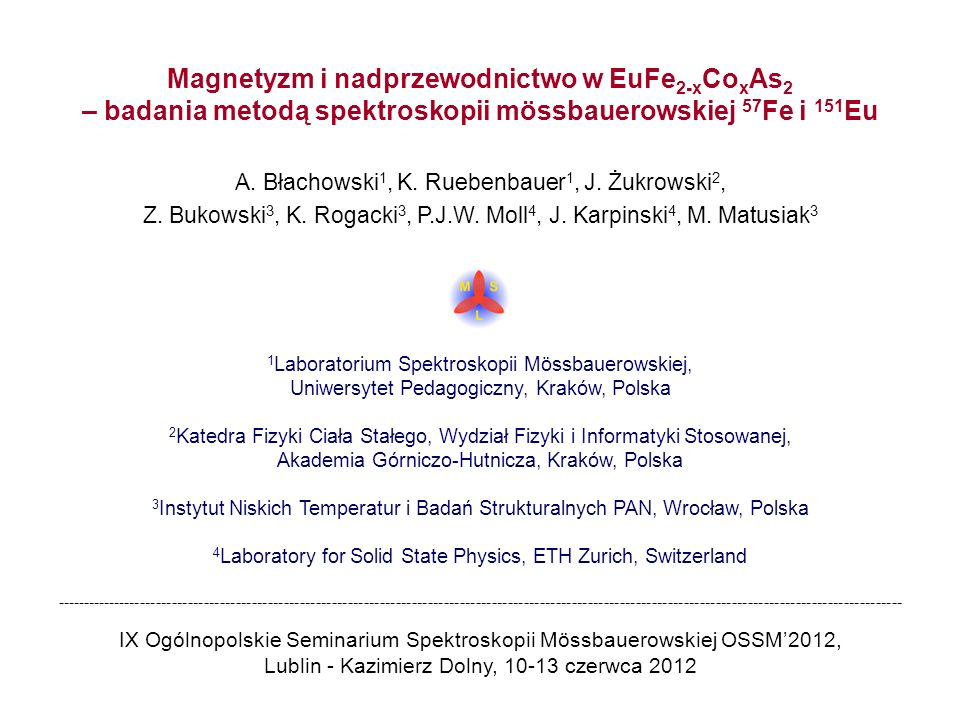 EuFe 1.66 Co 0.34 As 2 EuFe 2-x Co x As 2 Square root from the mean squared amplitude of SDW versus temperature