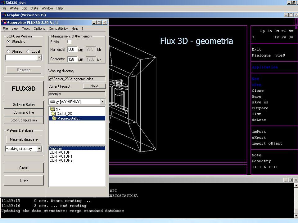 15 Flux 3D - geometria