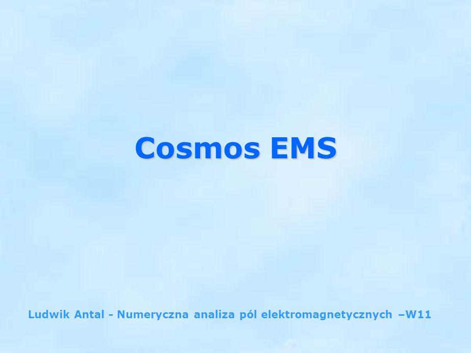 2 pakiet oprogramowania do analizy projektowej Structural Research and Analysis Corporation (SRAC) współpracujący z SolidWorks COSMOSDesignSTAR COSMOSDesignSTAR umożliwia następujące typy analizy: Liniowa i nieliniowa analiza naprężeń Obliczenia częstotliwości drgań własnych i deformacji Ocena krytycznego naprężenia wyboczenia Liniowa i nieliniowa analiza stanu ustalonego i przejściowego wymiany Symulacja ruchu (COSMOSMotion) Analiza przepływu płynu (COSMOSFlow) Analiza elektromagnetyczna (COSMOSEMS)