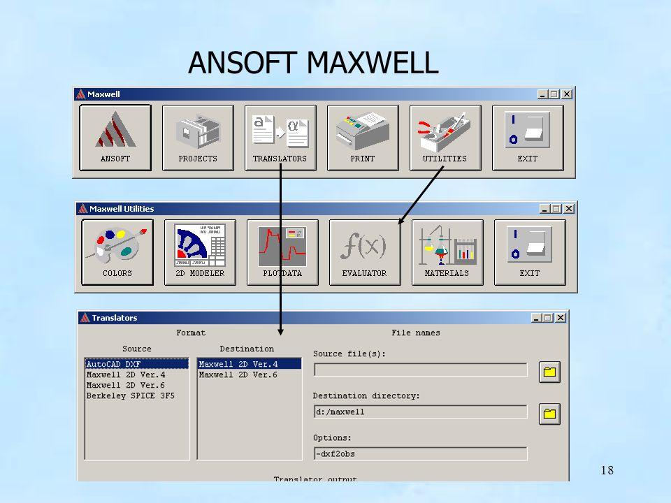 18 ANSOFT MAXWELL