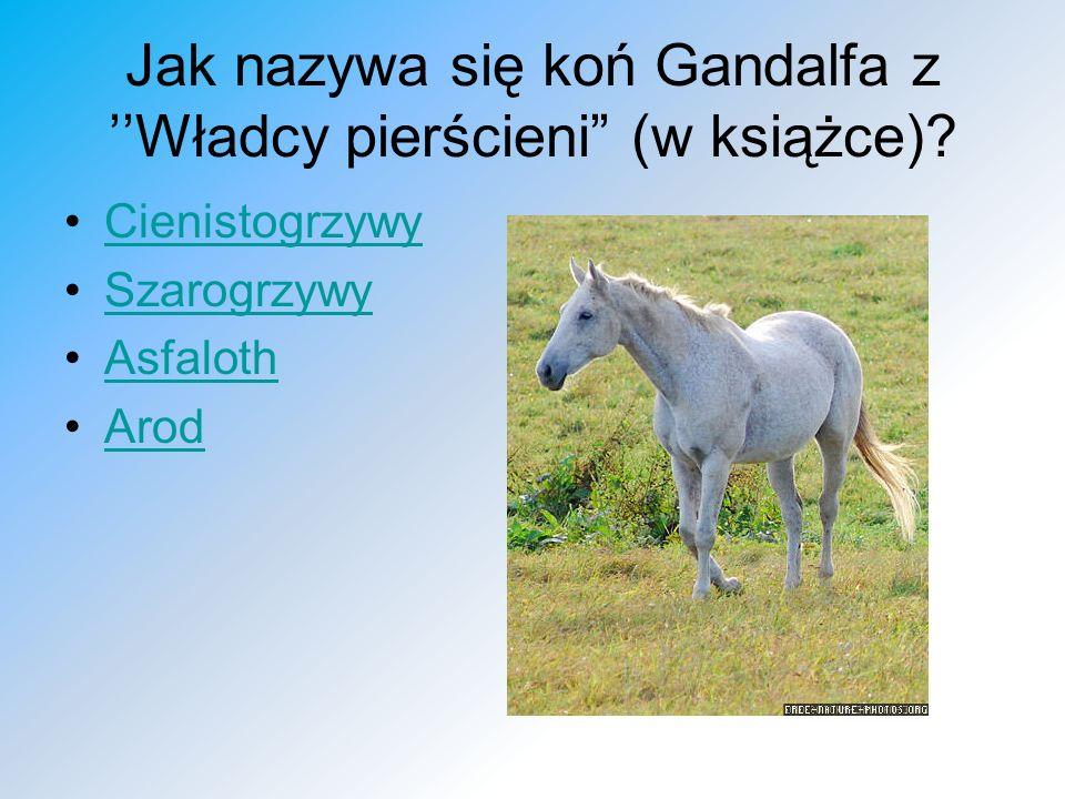Jak nazywa się koń Gandalfa z Władcy pierścieni (w książce)? Cienistogrzywy Szarogrzywy Asfaloth Arod