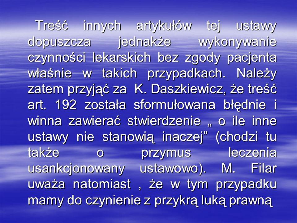 Stanowiska prawników- karnistów: R.Kędziora :...
