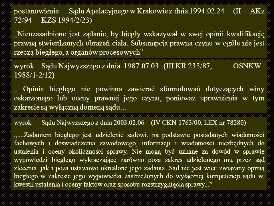 Z art. 193 k.p.k. wynika jakie są potrzeby wymiaru sprawiedliwości względem biegłych. Chodzi o posiadane przez nich wiadomości specjalne niezbędne do