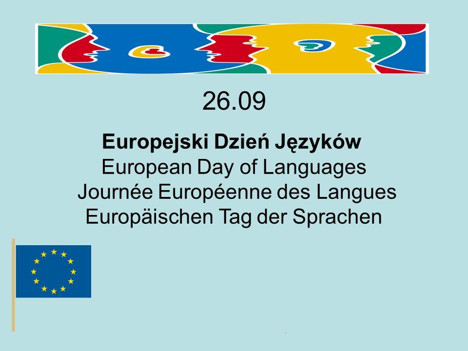 26.09 Europejski Dzień Języków European Day of Languages Journée Européenne des Langues Europäischen Tag der Sprachen