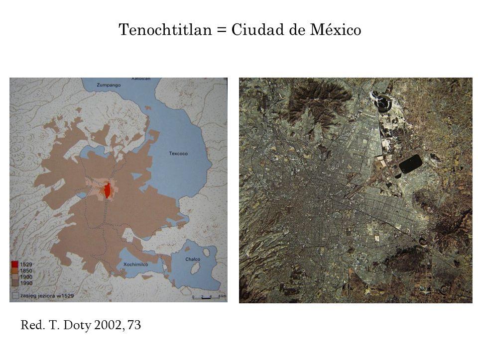 Tenochtitlan = Ciudad de México Red. T. Doty 2002, 73