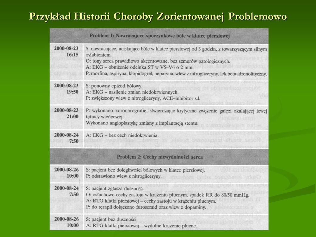 Przykład Historii Choroby Zorientowanej Problemowo