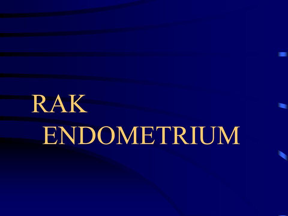RAK ENDOMETRIUM Czynniki ryzyka Otyłość Cykle bezowulacyjne Ekspozycja na estrogeny Nosicielstwo mutacji w genach MMR