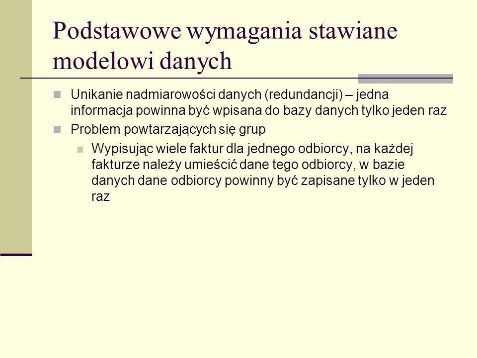 Przykład klucza obcego NazwiskoImięPID PapkinJan1 DrozdAndrzej2 KowalskiJan3 PapkinMarek4 PIDPrzedmiotOcena 2J.
