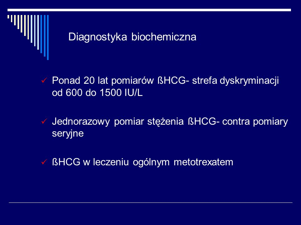 Ciąża ektopowa - podsumowanie Diagnostyka – TVS + ßHCG D&C LPSC