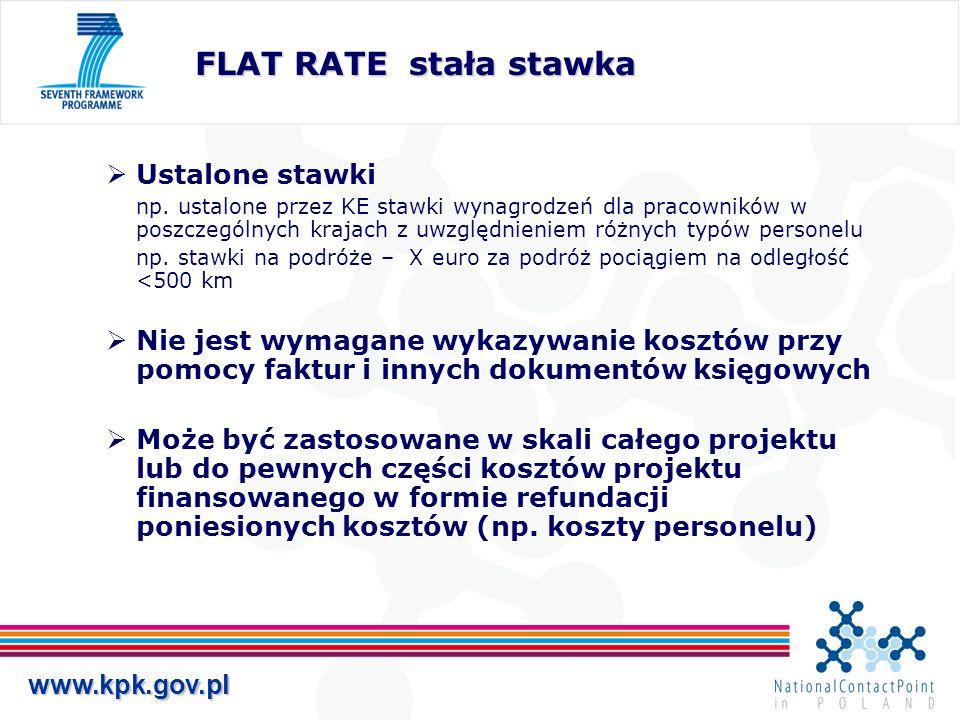 www.kpk.gov.pl Ustalone stawki np. ustalone przez KE stawki wynagrodzeń dla pracowników w poszczególnych krajach z uwzględnieniem różnych typów person