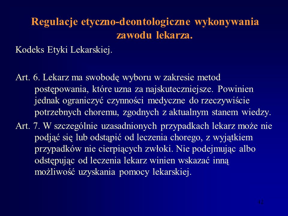 41 Zasady odpowiedzialności związanej z wykonywaniem zawodu lekarza USTAWA O ZAWODZIE LEKARZA I LEKARZA DENTYSTY Art. 58. 1. Kto bez uprawnień udziela
