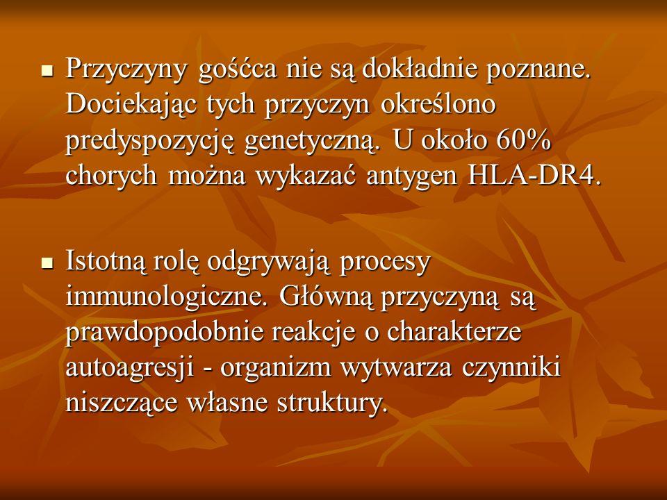 Przykłady problemów pielęgnacyjnych w opiece nad pacjentem z RZS: 1.