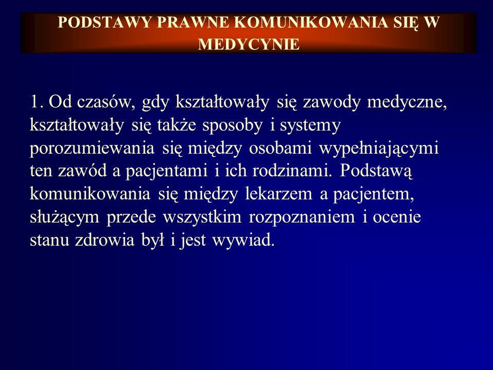 Barbara KATEDRA MEDYCYNY SĄDOWEJ A.M. WE WROCŁAWIU ZAKŁAD PRAWA MEDYCZNEGO Prof. dr hab. Barbara Świątek PRAWO MEDYCZNE Podstawy prawne komunikowania
