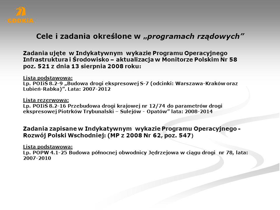 Prace przygotowawcze do budowy dróg: DK 78, na terenie województwa świętokrzyskiego Nr drogi Odcinek projektowy Długośćkm Stan prac przygotowawczych Zakładane lata realizacji DK 78 Gr woj.