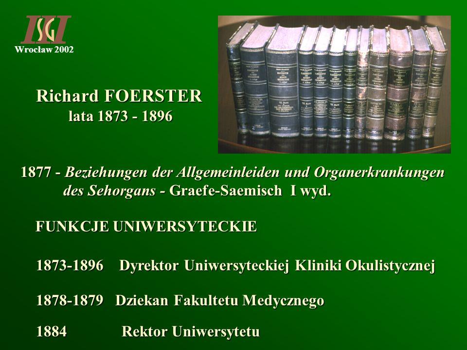 Wrocław 2002 1877 - Beziehungen der Allgemeinleiden und Organerkrankungen des Sehorgans - Graefe-Saemisch I wyd. des Sehorgans - Graefe-Saemisch I wyd