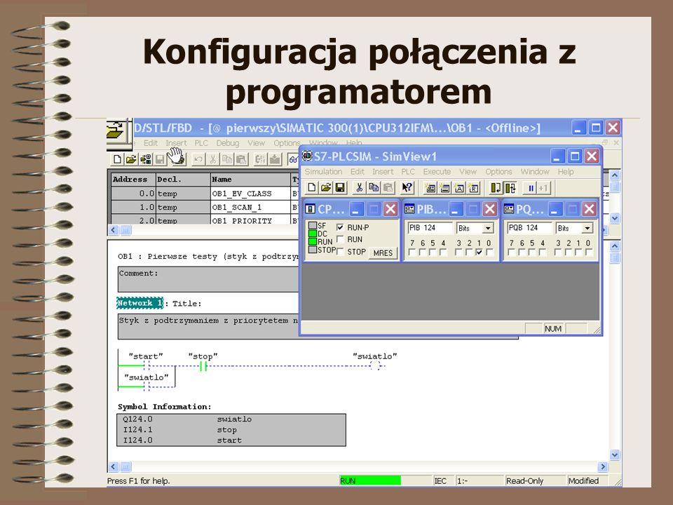 S7-300.:: Konfiguracja Programowanie Symulacja ::. flaga_st@agh.edu.pl Konfiguracja połączenia z programatorem