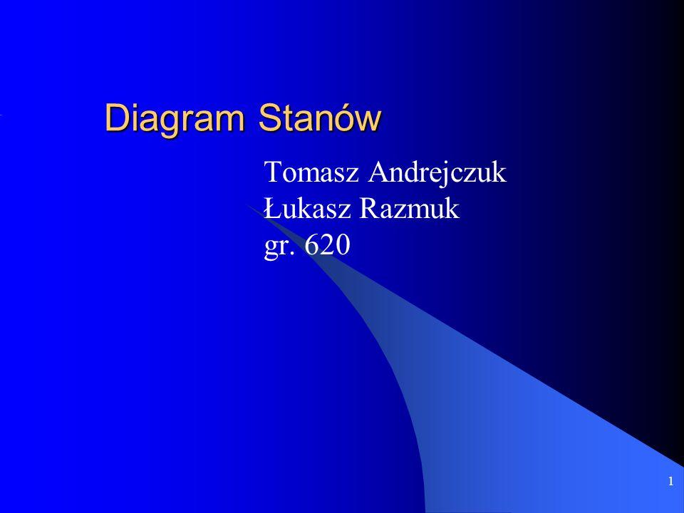 1 Diagram Stanów Tomasz Andrejczuk Łukasz Razmuk gr. 620