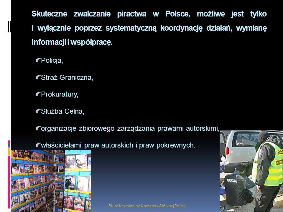 Skuteczne zwalczanie piractwa w Polsce, możliwe jest tylko i wyłącznie poprzez systematyczną koordynację działań, wymianę informacji i współpracę. Biu