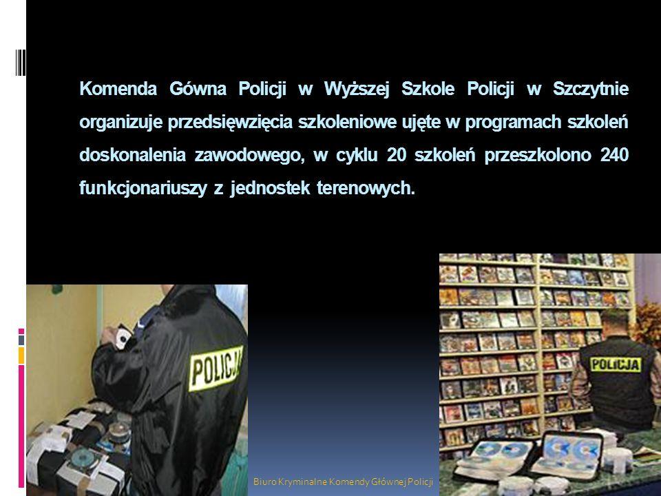 Komenda Gówna Policji w Wyższej Szkole Policji w Szczytnie organizuje przedsięwzięcia szkoleniowe ujęte w programach szkoleń doskonalenia zawodowego,