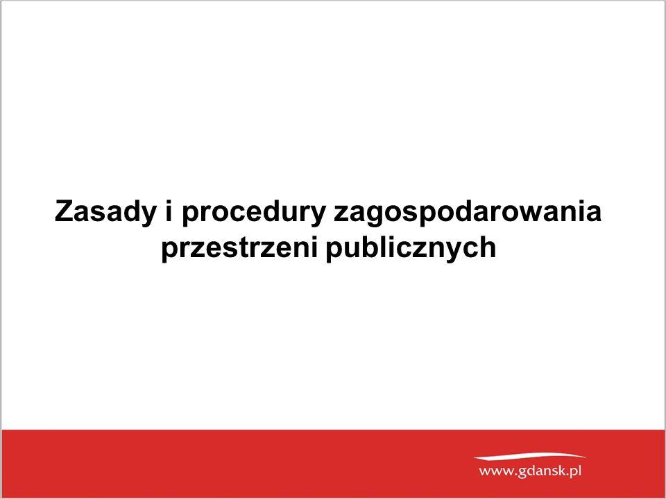 Zasady i procedury zagospodarowania przestrzeni publicznych