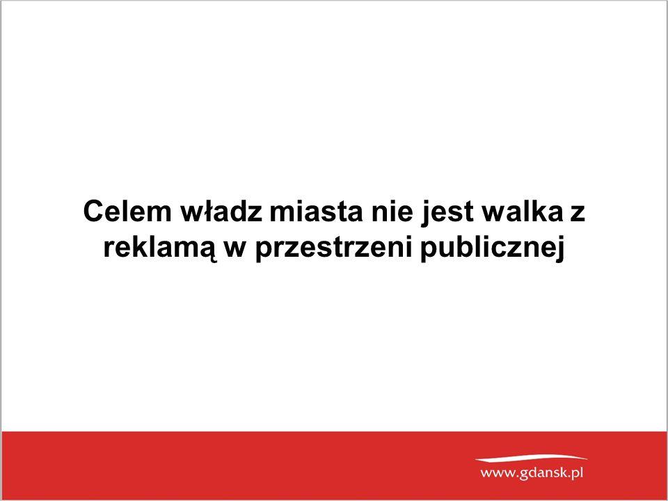 Celem władz miasta nie jest walka z reklamą w przestrzeni publicznej
