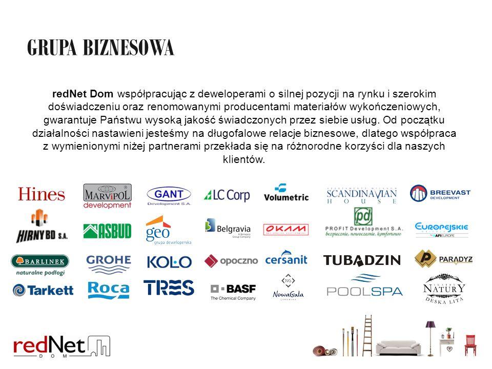 redNet Dom współpracując z deweloperami o silnej pozycji na rynku i szerokim doświadczeniu oraz renomowanymi producentami materiałów wykończeniowych, gwarantuje Państwu wysoką jakość świadczonych przez siebie usług.