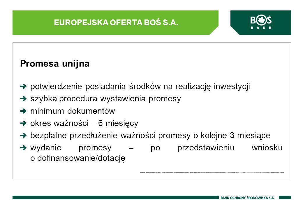 Promesa unijna potwierdzenie posiadania środków na realizację inwestycji szybka procedura wystawienia promesy minimum dokumentów okres ważności – 6 mi