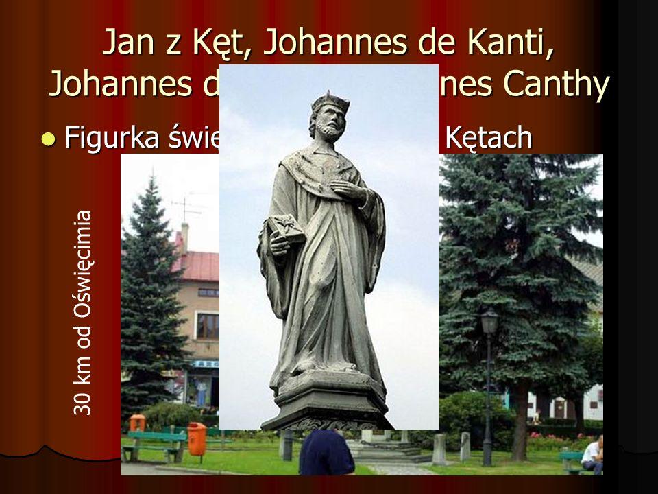 Jan z Kęt, Johannes de Kanti, Johannes de Kanty i Joannes Canthy Figurka świętego na rynku w Kętach Figurka świętego na rynku w Kętach 30 km od Oświęc