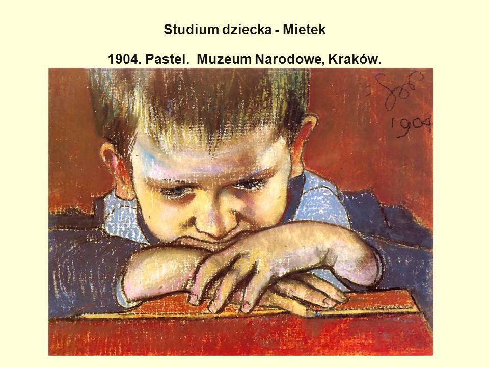 Studium dziecka - Mietek 1904. Pastel. Muzeum Narodowe, Kraków.