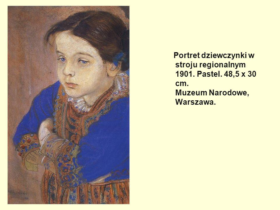 Portret dziewczynki w stroju regionalnym 1901. Pastel. 48,5 x 30 cm. Muzeum Narodowe, Warszawa.