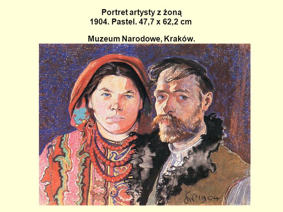 Portret artysty z żoną 1904. Pastel. 47,7 x 62,2 cm Muzeum Narodowe, Kraków.