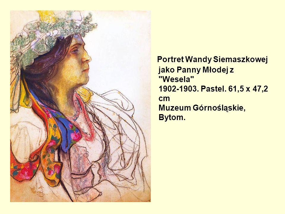 Portret Wandy Siemaszkowej jako Panny Młodej z