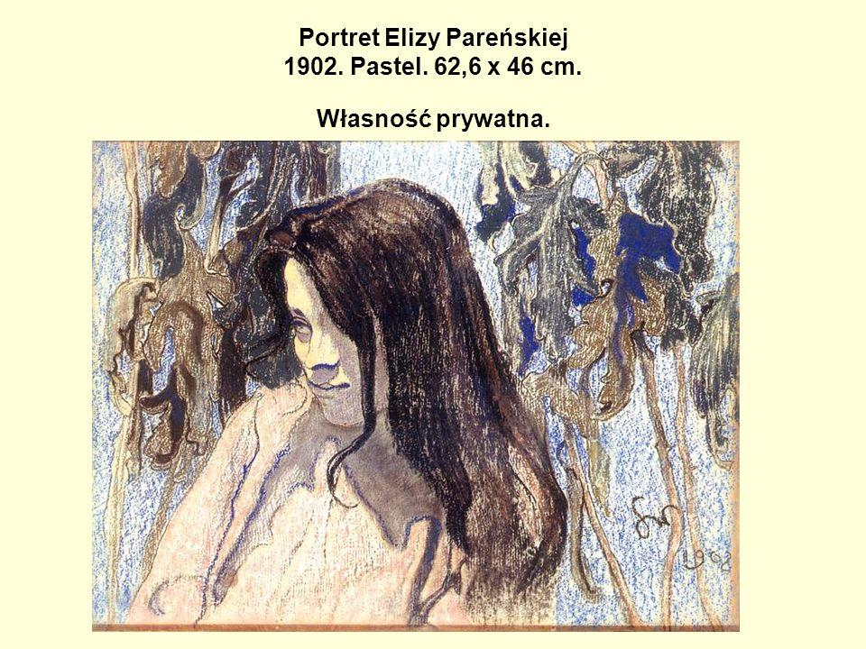 Portret Elizy Pareńskiej 1902. Pastel. 62,6 x 46 cm. Własność prywatna.
