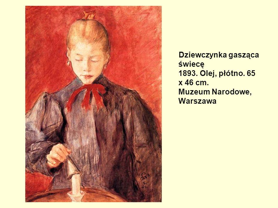 Dziewczynka gasząca świecę 1893. Olej, płótno. 65 x 46 cm. Muzeum Narodowe, Warszawa