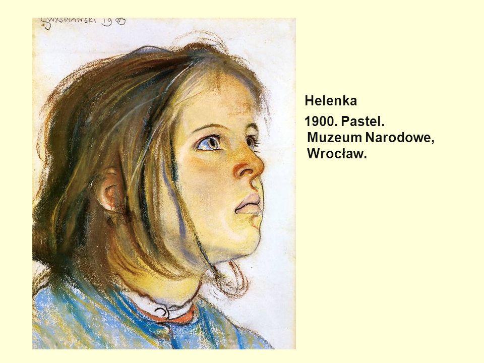 Helenka 1900. Pastel. Muzeum Narodowe, Wrocław.