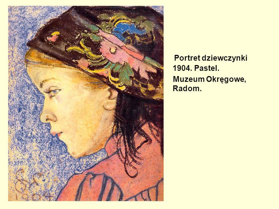 Portret dziewczynki 1904. Pastel. Muzeum Okręgowe, Radom.