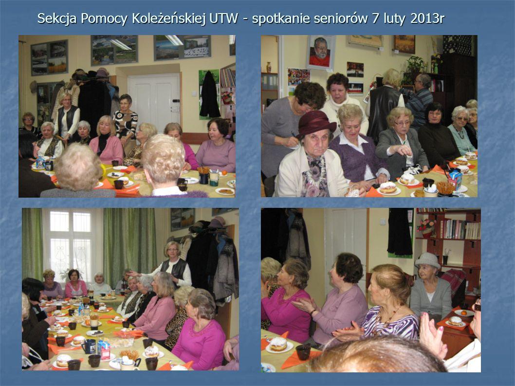 Sekcja Pomocy Koleżeńskiej UTW - spotkanie seniorów 7 luty 2013r