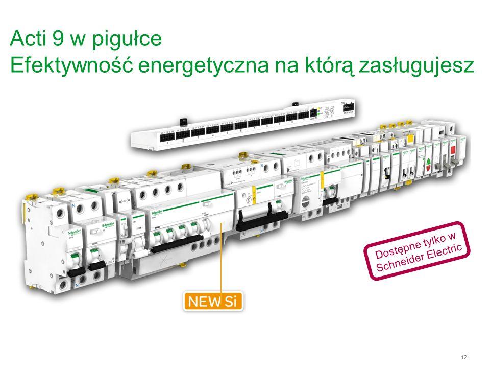 12 Acti 9 w pigułce Efektywność energetyczna na którą zasługujesz Dostępne tylko w Schneider Electric