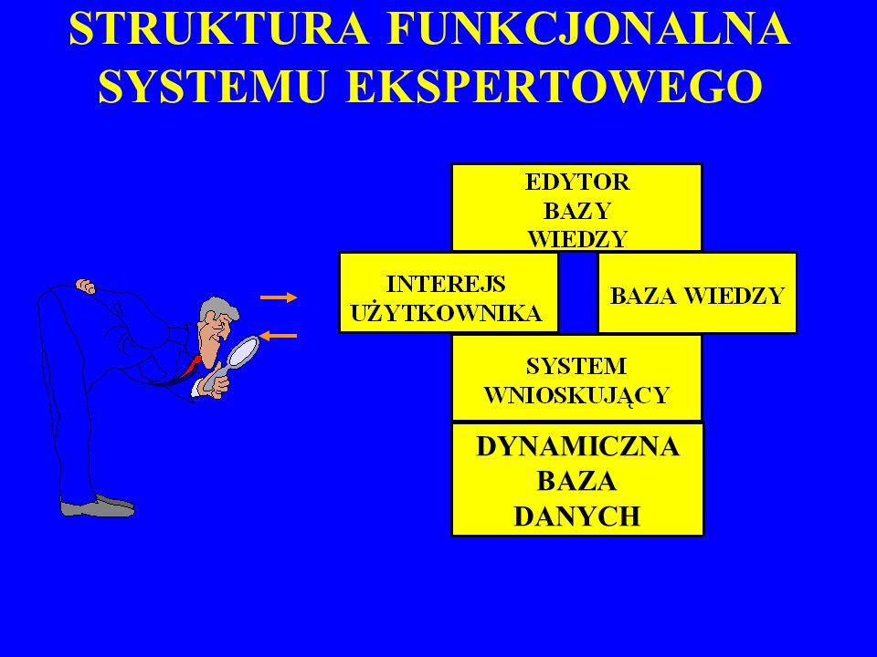 STRUKTURA FUNKCJONALNA SYSTEMU EKSPERTOWEGO DYNAMICZNA BAZA DANYCH