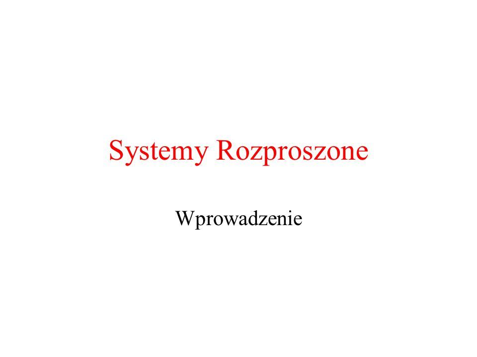 Systemy Rozproszone Wprowadzenie